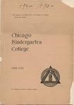 Chicago Kindergarten College, 1892-93
