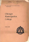 Chicago Kindergarten College, 1894-95