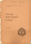 Chicago Kindergarten College, 1895-96