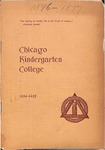 Chicago Kindergarten College, 1896-97