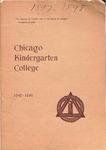 Chicago Kindergarten College, 1897-98