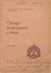 Chicago Kindergarten College, 1899-00