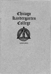 Chicago Kindergarten College, 1900-01