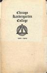 Chicago Kindergarten College, 1901-02