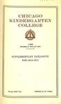 Chicago Kindergarten College catalog, 1910-11 by Chicago Kindergarten College