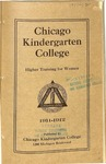 Chicago Kindergarten College catalog, 1911-12