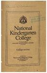 National Kindergarten College catalog, 1914-15 by National Kindergarten College