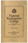 National Kindergarten College catalog, 1915-16 by National Kindergarten College
