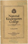 National Kindergarten College catalog, 1915-16