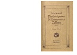 National Kindergarten and Elementary College Catalog, 1917-1918