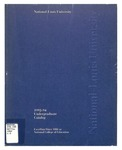 National-Louis University Undergraduate catalog, 1992-94